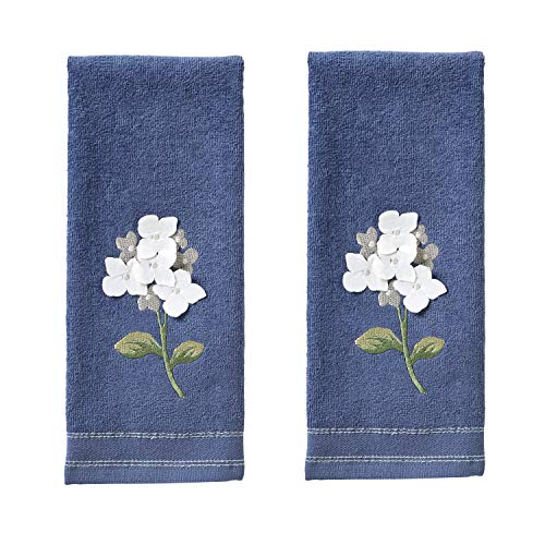 SKL Home by Saturday Knight Farm Hydrangea Hand Towel Set, Blue, 16 x 25