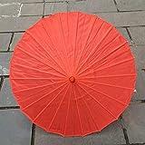 Damen Regenschirm aus Seide, japanische Kirschblüten aus Seide, antiker Tanz, dekorativer Regenschirm im chinesischen Stil, Öl-Papierschirm Rot hellrot