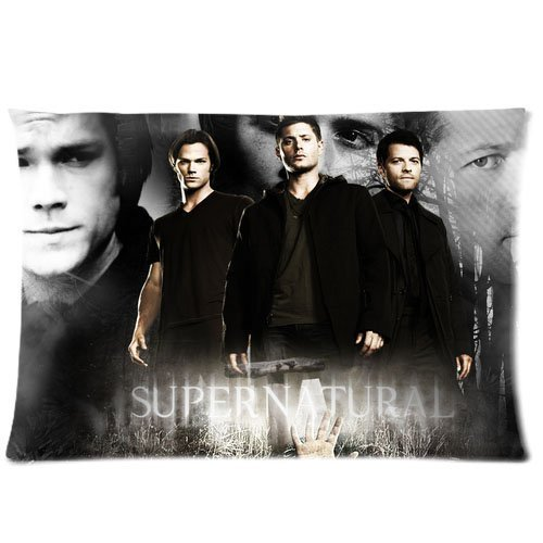 Basidfs Supernatural Pillowcase Zippered Throw Pillow Cover Soft Cotton Comfortable Two Sides Picture Printed Custom Standard Size 20x36