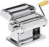 LEYENDAS Máquina para Hacer Pasta Fresca Máquina de Cortar Pasta Acero Inoxidable Máquina de Cocina en Casa Máquina para Hacer Fideos Frescos, Tallarines, Lasañas y Espaguetis (Acero_Inoxidable)
