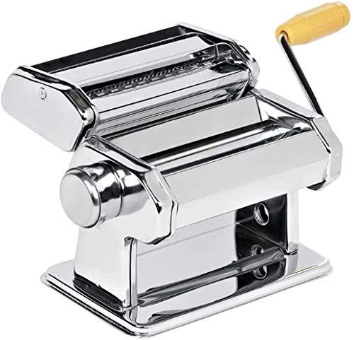 LEYENDAS Macchina per fare pasta fresca, macchina per tagliare pasta in acciaio inox, macchina da cucina in casa, macchina per fare fedi freschi, tagliacarte, lasagne e spaghetti (acciaio inox)