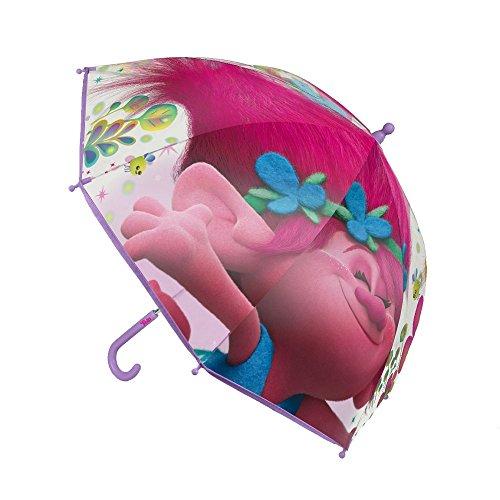 GUIZMAX Regenschirm die Trolle Kinder Disney Mohnblume