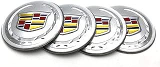 4pcs 65mm Car Styling Accessories Emblem Badge Sticker Wheel Hub Caps Centre Cover fit for Cadillac ATS CTS EXT SRX XTS XLR