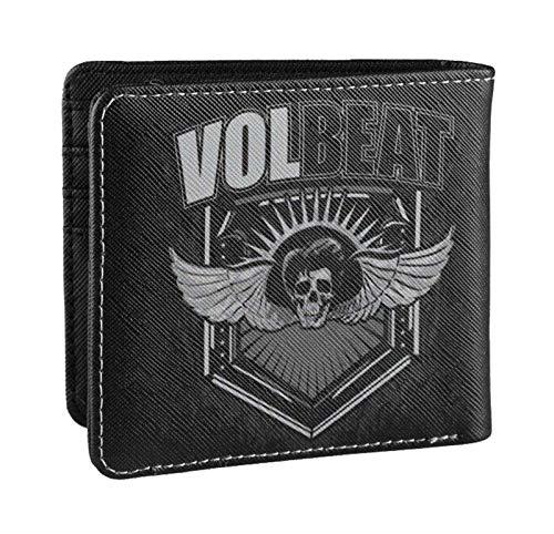 Volbeat Brieftasche Skull Wings Band Logo Nue offiziell Schwarz Bifold