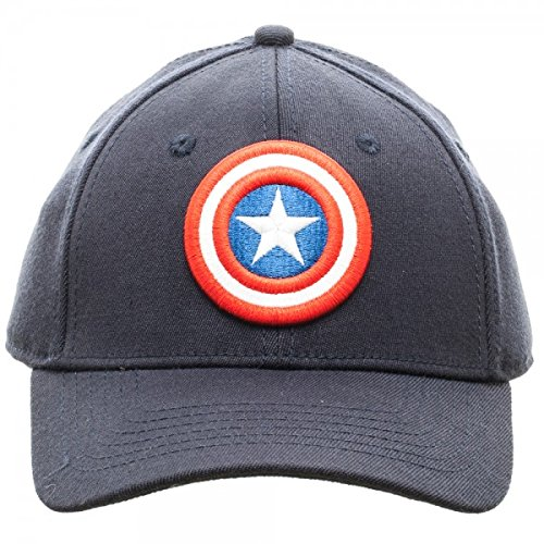 7e23c5e8140 MARVEL Captain America Logo Flex Fit Active Hat NEW
