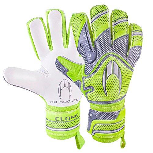 Ho Soccer Supremo Clone Negative Torwarthandschuhe, Unisex, Erwachsene, Grün (Limette)/Grau/Weiß, 5,5