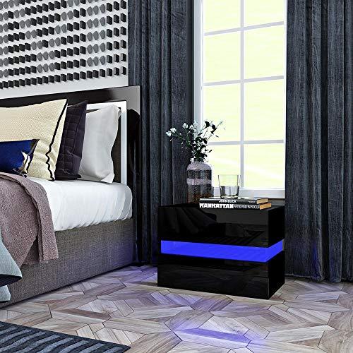 Zuzanny nachtkastje slaapkamermeubel zwart notenhout massief hout nachtkastje bijzettafel kwaliteitsmodel 1 1Pc wit_Groot-Brittannië