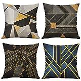 MIULEE Pack Von 4 Dekorative Kissenbezüge Unregelmäßigen Geometrischen Muster Kissenbezug Kissen...