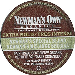 100 Pack - Newman's Own Extra Bold Special Blend Coffee K-Cups for Keurig Brewers
