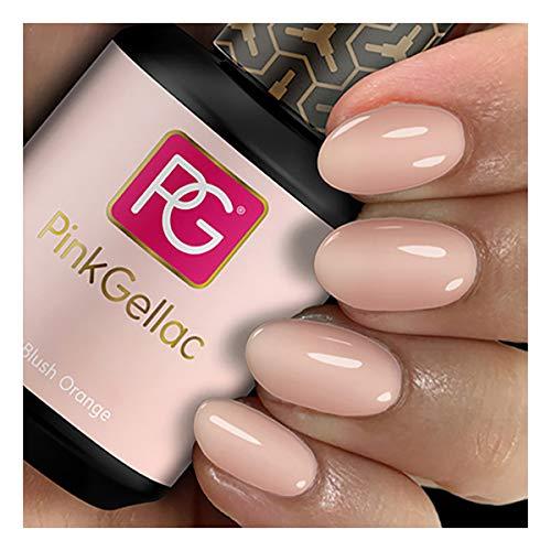 Pink Gellac 105 Blush Orange Rosa Shellac UV / LED Gel Nagellack 15ml Nail Polish Uncovered 1 Kollektion