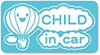 imoninn CHILD in car ステッカー 【マグネットタイプ】 No.32 気球 (水色)