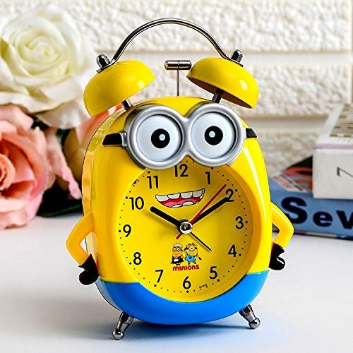 YUEXING Wecker mit niedlichem gelben Minions-Wecker für Kinder, Lampe, Tischuhr, schöner Timer für Studenten, Schlafsaal, Kinderzimmer