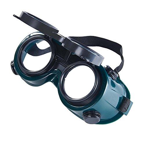 Gafas de soldadura Babimax con lentes abatibles, lentes oscuras y transparentes, perfectas para cortar con oxiacetileno, soldar y soldadura fuerte.