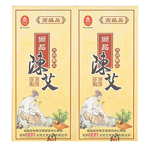 Five Chen Pure Moxa Rolls, ShangPin Moxa Rolls for Moxibustion Upgrade Packaging (20 Rolls in Total)