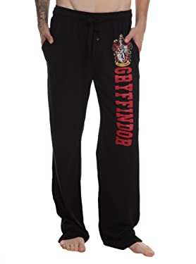 Bioworld Harry Potter Gryffindor Guys Pajama Pants Black