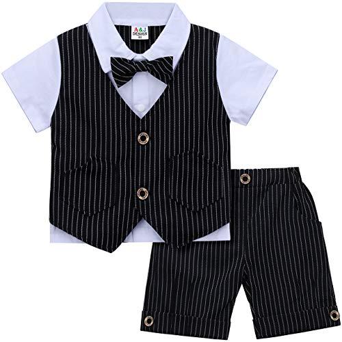 mintgreen mintgreen Säugling Baby Herren Outfits Tauf Anzug, Schwarz, 3-4 Jahre (Herstellergröße: 110)