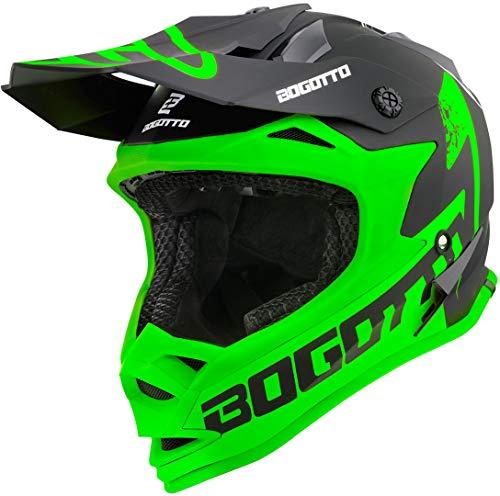 Bogotto V321 Soulcatcher Motocross Helm Grün/Schwarz XL