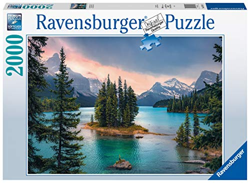 Ravensburger Puzzle 2000 Pezzi, Spirit Island in Canada, Collezione Foto e Paesaggi, Jigsaw Puzzle per Adulti, Puzzles Ravensburger - Stampa di Alta Qualità, Dimensione Puzzle: 98x75cm