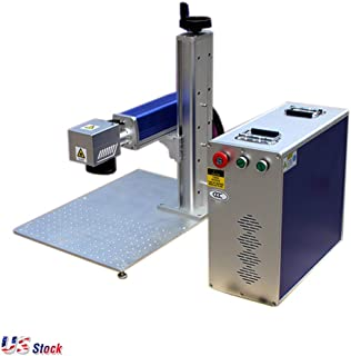 US Stock - 30W Split Fiber Laser Marking Machine Laser Engraver Cutter Engraving Machine with Raycus Laser and Rotation Axis, FDA