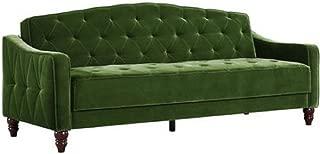 Novogratz Vintage Tufted Sofa Sleeper II (Green Velour) (Green Velour)