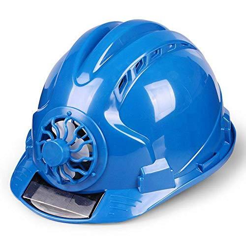 Guajave Casco de Trabajo con Ventilador Solar Ajustable con ventilación y Protector Solar Impermeable