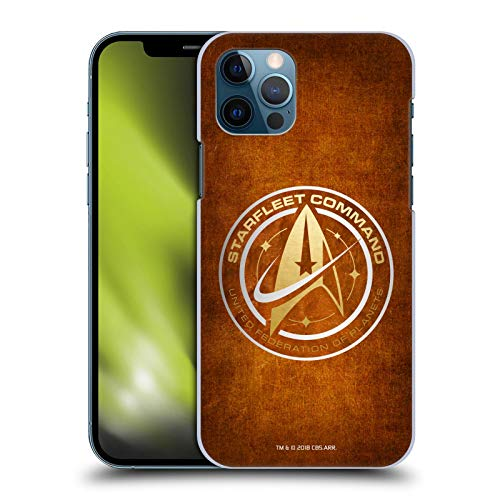 Head Case Designs Officially Licensed Star Trek Discovery Starfleet Distressed Look Badges Hard Back Case Compatible with Apple iPhone 12 / iPhone 12 Pro