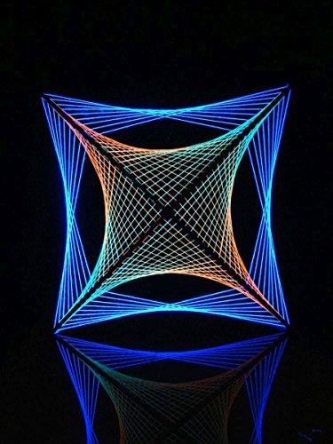 PSYWORK 2D StringArt - Guirnalda de Luces Negras (90 cm)
