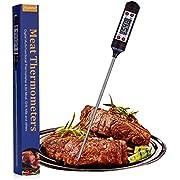 Nuonove Termometro de Cocina, Termómetro para Carne, Termómetro de Alimentos, Termómetro para Carne Digital, Sonda Súper Larga, para Cocina, BBQ, Comida, Pavo, Caramelo, Leche, Agua de Baño