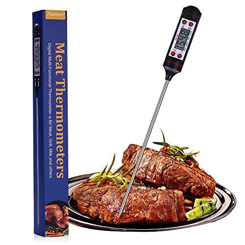 Bratenthermometer Digital, Fleischthermometer, Grillthermometer, Haushaltsthermometer, Kochthermometer, Einstichthermometer Sofort Lesbar LCD-Bildschirm Für küche, Grill, Steak, Milch, Edelstah