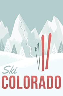 Ski Colorado Travel Retro Cool Wall Decor Art Print Poster 24x36