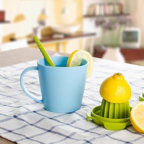 Exprimidor manual de zumo de limón de fruta multifuncional para moler y masticar zumos rosso Gris