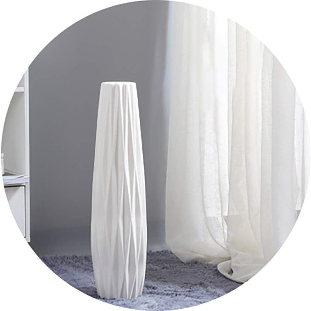 Vases White Floor Ceramic Simple Decorative Porch Decoration Sky-Dried Flower Arrangement in Living Room (Color : White, Size : 12.5745cm)