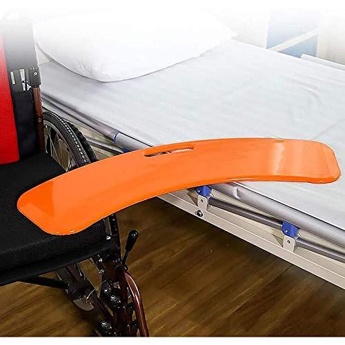 jjff Gekrümmtes Transfer-Brett mit Handlöchern, Gleitplatte aus verstärktem Kunststoff, um den Patienten vom Rollstuhl ins Bett, in die Badewanne, in die Toilette oder ins Auto zu bringen