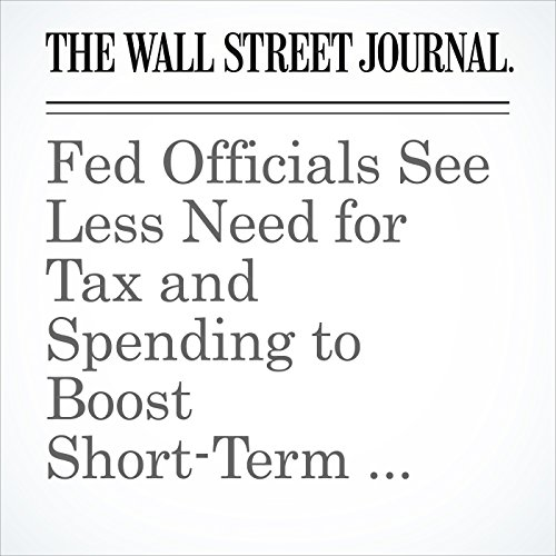 Fed Officials See Less Need for Tax and Spending to Boost Short-Term Growth copertina