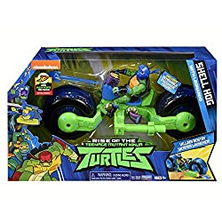 Each shell hog is a projectile launching cycle that comes with two projectiles All shell hogs in the assortment connect to each other for the ultimate Turtle attack Shell hog cycle pivots up and down for high or low ninja surprise attack These projec...