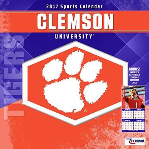 "Turner Licensing Sport 2017 Clemson Tigers Team Wall Calendar, 12""X12"" (17998011798)"