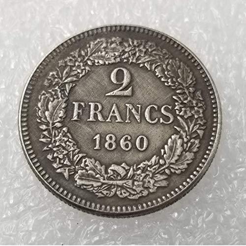 DDTing 1860 Schweizer Franken Alte Münzen – alte Münze zum Sammeln – Ursprüngliche Schweizer Münze – brillant, Nicht zirkuliert/Sammlerstück