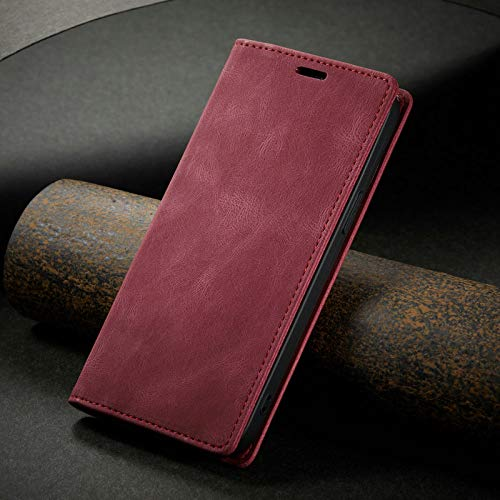 ZXMDP para iPhone 12 Flip Wallet Cover Pro 11S XS MAX XR X SE 2020 6 8 7 Plus Funda Retro 2 en 1 Funda magnética extraíble para teléfono, marrón, para iPhone 11
