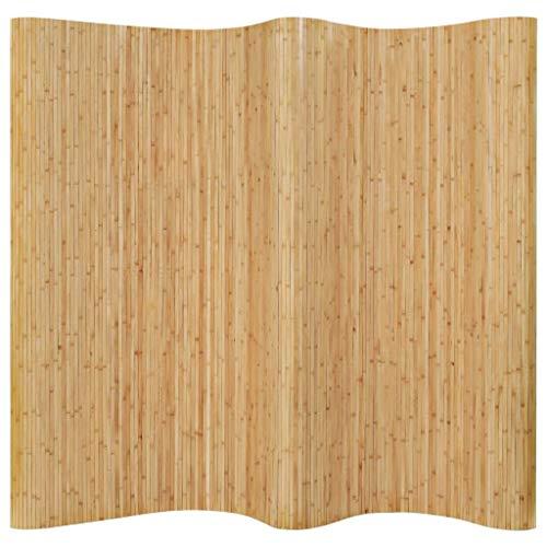 vidaXL Raumteiler Paravent Trennwand Spanische Wand Vlies-Rückseite Sichtschutz Bambusmatte Flexibel Stellwand Bambus 250x165cm Natur