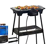 Cuisinier Deluxe Standgrill 43x35cm Elektrogrill Partygrill Barbecue Camping