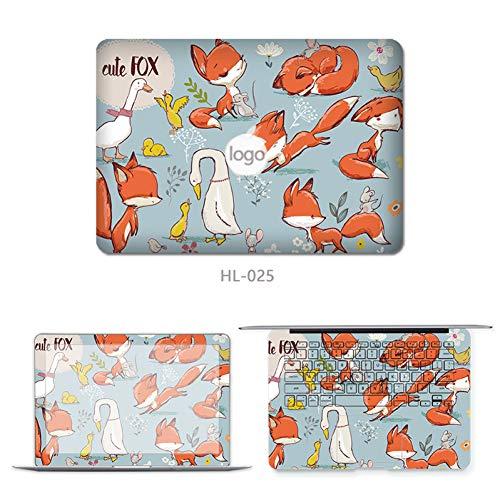 HUATULAI Laptop skin Laptop Skin Inch Cute Three Sides Laptop Sticker Cover For Macbook Air Pro Retina 11' 12' 13' 15 A1278 A1932 A1466