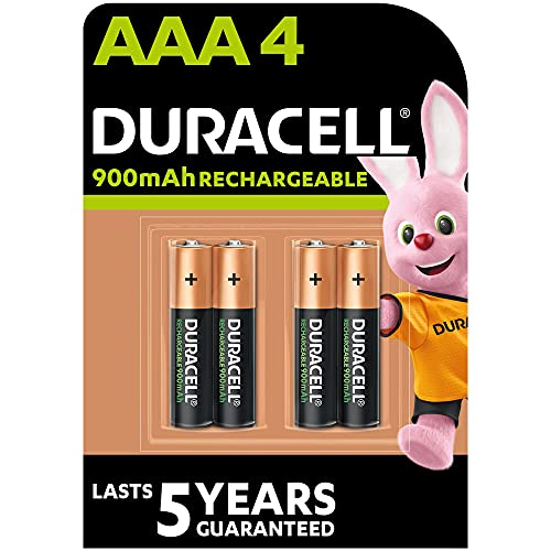 Duracell Rechargeable AAA 900 mAh Micro Akku Batterien HR03, 4er Pack