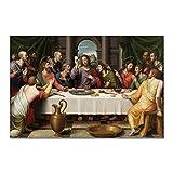 La última cena, carteles e impresiones famosos, lienzo, pintura artística, decoración del hogar, ima...