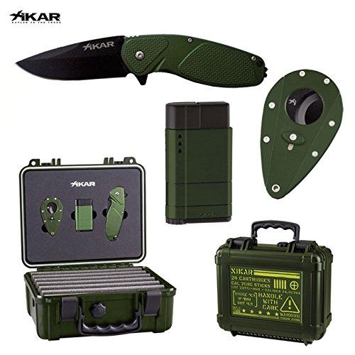 Xikar Geschenkbox Limited Edition–Luftbefeuchter, Zigarrenabschneider, Zigarettenanzünder, Messer
