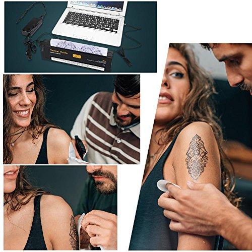 Professional Tattoo Thermal Printer, Portable Tattoo Transfer Copier Stencil Paper Maker Machine(US Plug)