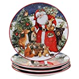 Certified International Magic Of Christmas Santa 11' Dinner Plates, Set of 4, Multicolored