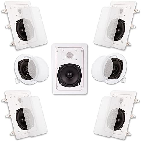 Acoustic Audio HT 57 In Wall In Ceiling 1400 Watt Home Theater 7 Speaker System product image