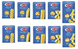 TESTPAKET Pasta Barilla italienisch (10 x 500g) 5 Arten von Nudeln kurze Nudeln (Fusilli-Tortiglioni-Penne Rigate-P.Mista-Farfalle)