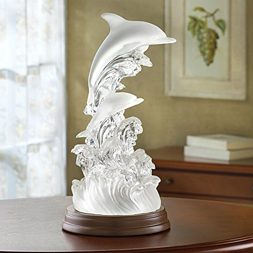 Gifts & Decor Dolphins on Waves of Light Battery Operated Collectible