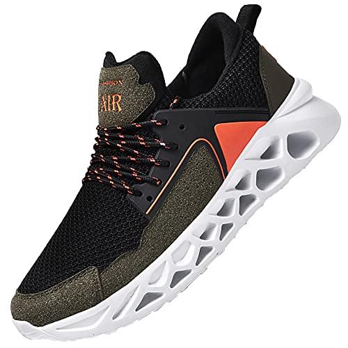 Running Shoes Tennis Walking Fashion,Comfort Athletic Sport Running Walking Shoes,Green_40